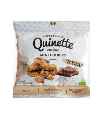 Quinoa mini-cookies – chocolade & chia