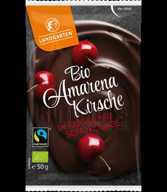 Amarena-kersen in pure chocolade