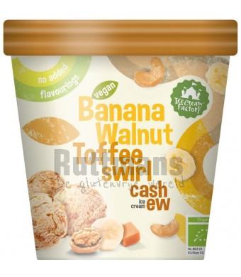 Banana walnut toffee swirl cashew ice cream (diepvries)