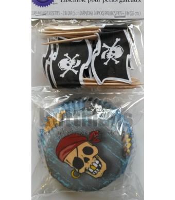Cupcake vormpjes piraat