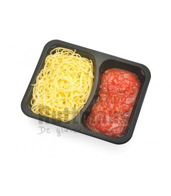 Spaghetti tomaten-gehaktsaus
