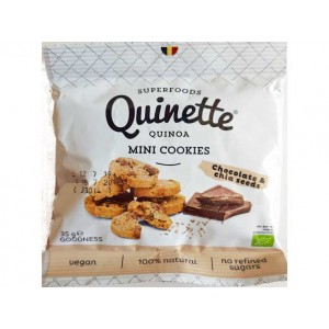 Quinoa mini-cookies – chocolade & chia
