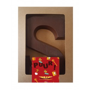 Chocoladeletter S (puur)