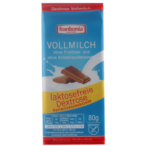 Volle Melkchocolade, zonder fructose en zonder kristalsuiker