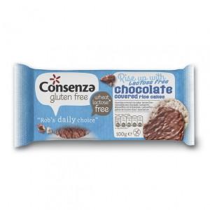 Rijstwafel met lactosevrije chocolade