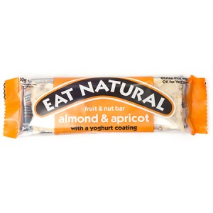 Fruit en noten reep almond & apricot met yoghurt coating