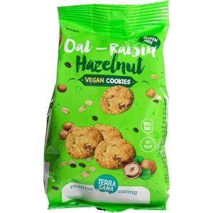 Haver-rozijn-hazelnoot koekjes