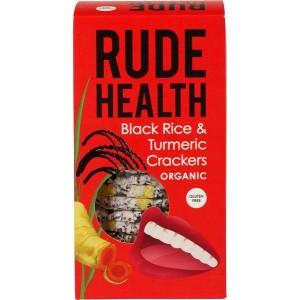 Zwarte rijst-kurkuma crackers
